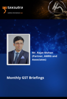Monthly GST Briefings - August 2021