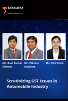 Scrutinizing GST Issues in Automobile Industry