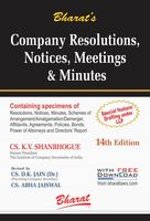 Company Resolutions, Notices, Meetings & Minutes  Revised by Dr. D.K. Jain