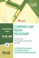 Company Law Ready Reckoner (in 2 Vols.) Volume 1 & 2