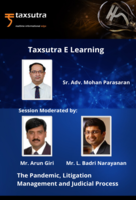 "Taxsutra Dialogues : In conversation with Legal Eagle – Sr. Adv. Mohan Parasaran on ""The Pandemic, Litigation Management and Judicial Process""!"
