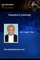 """""""Micro-Learning Series"""" on """"Fundamentals & Practical Aspects of Benami Law in India"""""""