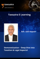 Demonetization – Deep Dive into Taxation & Legal Aspects