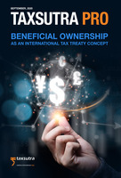 Taxsutra Pro Issue 3 : Beneficial Ownership – As an International Tax Treaty Concept