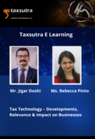 Tax Technology – Developments, Relevance & Impact on Businesses