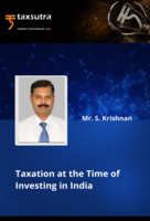 Taxation at the Time of Investing in India