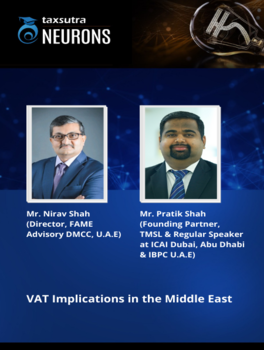 Journey from Tax Free to Comprehensive Tax Regime in GCC - VAT