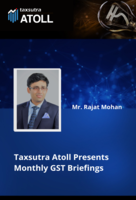 Taxsutra Atoll Presents Monthly GST Briefings - November 2020
