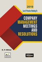 Law & Practice Relating to - Company Management, Meetings And Resolutions