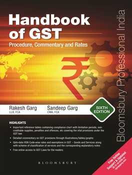 Handbook of GST Procedure, Commentary and Rates