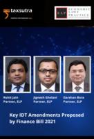 Key IDT Amendments Proposed by Finance Bill 2021