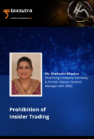 Prohibition of Insider Trading