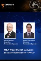 "M&A Wizard Girish Vanvari's Exclusive Webinar on ""SPACs""!"