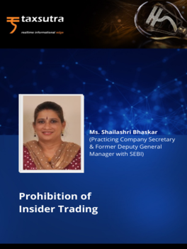 Prohibition of Insider Trading - Course