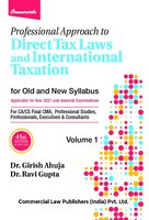 Professional Approach to Direct Tax Laws and International Taxation (41st Edition) (Set of 2 Volumes)